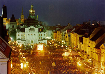 Kosice, Slovakia, on the night of the SuperMacarena